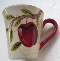 Apple Harvest Large Mug by Canterbury Potteries Handpainted Collection - $9.99