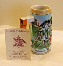 Anheuser-Busch Budweiser The Gridiron Legacy Football Beer Stein w/ COA ... - $23.75