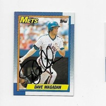 1990 TOPPS  METS DAVE MAGADAN HAND SIGNED CARD - $1.49