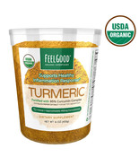 NEW Feel Good USDA Organic Turmeric Powder, 16 Ounces **FREE SHIPPING** - $31.99