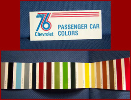 1976 Chevrolet Automobile Paint Color Brochure - New Old Stock By Gm - $9.50