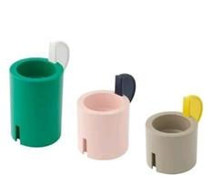 Ikea ADELHET Stackable Candlestick 3 Holders Tealight Candle Holder Metal New - $21.33