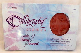 Everyday Sayings Calligraphy Foam Mounted Rubber Stamp Set Ken Brown NEW - $16.82