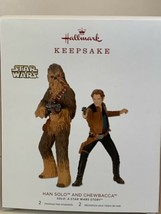 Hallmark Keepsake Hans Solo & Chewbacca Star Wars 2018 Set of 2 Ornaments - $9.89