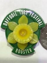 Vtg Original 1963 PUYALLUP VALLEY DAFFODIL FESTIVAL PLASTIC BOOSTER PIN ... - $55.97