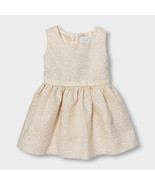 Size 4T White Shimmery Rose Jacquard Sleeveless Dress/NWT/The Children's... - $25.65 CAD