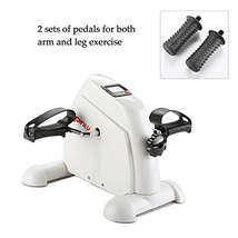 Pinty Mini Exercise Bike Pedal Exerciser Portable Cycle Lightweight White - $80.38