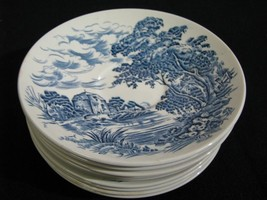 "Set of 9 Enoch Wedgwood ""Countryside"" Pattern Saucers - $34.99"