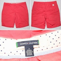 TOMMY HILFIGER Orange Chino Casual Shorts Front/Back Pockets Size 4 - $14.99