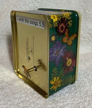 Chrysanthemum flowers butterfly Aluminum Storage Tin Music box Desk Quartz Clock image 5