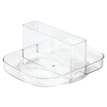InterDesign Linus Lazy Susan Turntable Napkin and Condiments Holder - Clear - $16.34