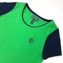 LRL Lauren Ralph Lauren Shirt size L Short Sleeve Crew Neck Blue Green GC - $16.99