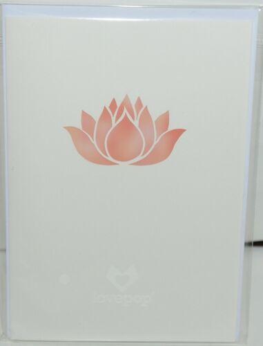 Lovepop LP2426 Lotus Bloom Pop Up Card  White Envelope Cellophane Wrapped