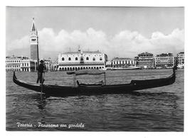Venice Italy Venezia Panorama Gondola Glossy Vera Foto 4X6 Photo Postcard  - $4.99