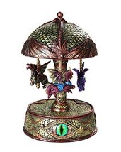 Pacific Giftware Mystical Fantasy Dragons Vintage Carousel Music Box Collectible - $69.99