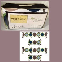 Sweet Jojo Designs Designer Dots Collection Baby Crib Bumper Set Rare Di... - $79.19