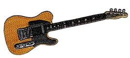 Electric Guitar #2 Embroidered Patch Iron-On Rock Roll Musical Instrument Emblem - $4.59
