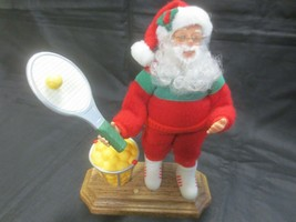 """Holiday Creations MUSICAL SANTA TENNIS PLAYER - """"We Wish You A Merry Chr... - $6.93"""