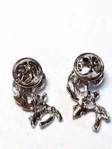 Rose Tack Pin Silver Tone Flower Vintage  2 Pins - $14.09