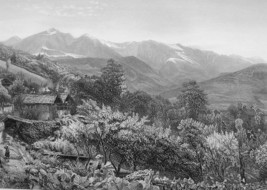 SWITZERLAND Alps Valley of Chamouni & St. Gervais - 1875 Antique Print E... - $13.49