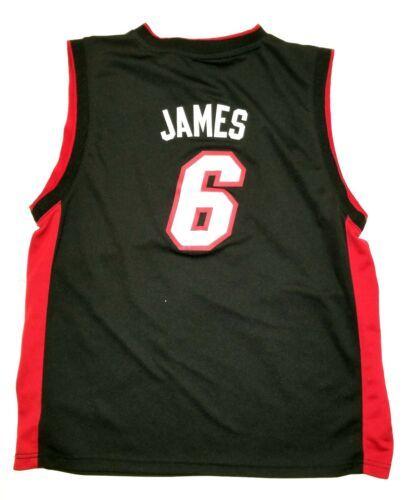 a4ec6a934fb Boys Adidas Miami Heat Number 6 LeBron James Basketball Jersey Size XL 16 18