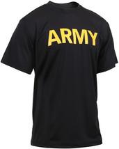 Black Performance Moisture Wicking US ARMY PT Training Workout APFU T-Shirt - $18.99+