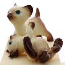Hagen-Renaker Miniature Cat Figurine Siamese Large Kitten on Back and Walking image 3
