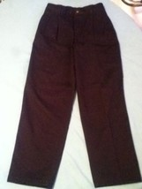 Boys Size 12 Regular Van Heusen American Khakis pants black  - $12.15