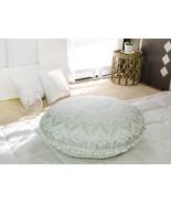 "32"" Round Silver Ombre Throw Pouf Pillow Home Decor Large Hippie Cushion... - $21.98"