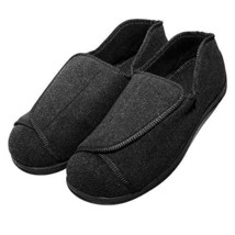 Cozy Ankle Men's Extra Wide Slippers Adjustable Diabetic & Edema Loafers... - $67.54