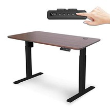 MAIDeSITe Electric Height Adjustable Standing Desk,Workstation (Black+wa... - $446.05