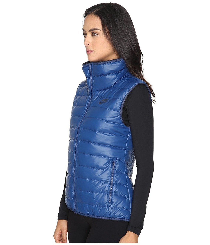 d477d462acc3 Nike Womens Down Vest NWT Size XS Blue Black 805257-423 NEW  130 NWT