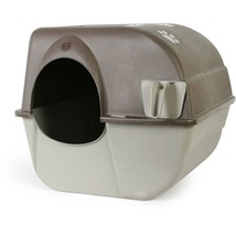 Omega Paw Roll N Clean Self Cleaning Cat Litter Box Large Less dust Easy... - $42.56