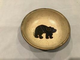 Vintage  Folk Art Primitive Painted Bowl - $6.99