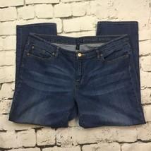Gap Womens Sz 16/33 Jeans Blue Denim Premium Skinny Cropped  - $19.79