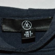 Missguided Women' Oversized Navy Blue Raw Hem Hoodie Sweatshirt Dress Size 2 image 3