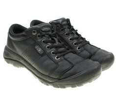 KEEN Austin Mens Black Lace-ups Leather Waterproof Hiking Walking Shoes Size 7 - $38.60