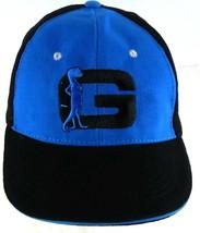 GEICO Gecko Black and Blue Adjustable Strapback Cap hat - $9.89