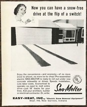 1962 East-Heat New Carlisle IN Print Ad Sno-Melter Heated Driveway - $8.95