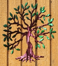 Tree of Life 2 Metal Wall Art Home Decor Dyed Finish - $32.00+