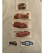 SIX (6) IRON-ON (HEAT) TRANSFERS  Mostly Automotive Related  mid 1980s  ... - $9.95