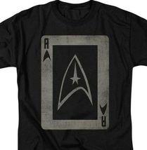 Star Trek Star fleet emblem playing card t-shirt retro TV graphic tee CBS1420 image 3