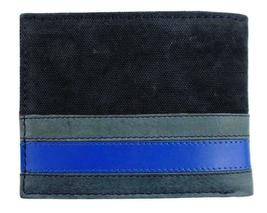 Tommy Hilfiger Men's Leather Canvas Credit Card Wallet Billfold Navy 31TL22X050 image 5