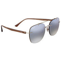 Ray Ban Brown and Silver Gradient Mirror Sunglasses 100% Authentic - $89.09