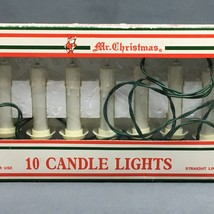 Vintage Mr Christmas String Christmas Tree Lights in Box 10 Clip On Candle  - $19.99