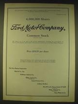 1963 Ford Motor Company Ad - 4,000,000 Shares Ford Motor Company - $14.99