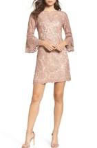 Nwt Vince Camuto Lace Beige Blush Shift Dress Size 16 $168 - $66.82