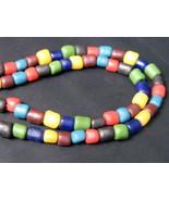 So Rare Multi-Color Ta-Ra-ra-Di Stone Bead (Luk-Pat-Lord) Necklace: Long... - $19.99