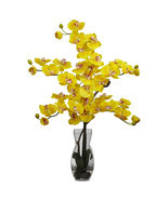 Phalaenopsis w/Vase Silk Flower Arrangement - $83.26