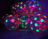 Clear latex polka dot blacklight balloons6 thumb155 crop